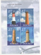 Polonia Poland Polska 2006 Sheet Fari PHARES - LEUCHTURME - LIGHTHOUSES - Headlights MNH - Fari