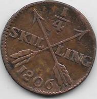 Suède - 1/4 Skilling 1806 - Sweden