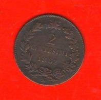 2 Centesimi 1862 N Vittorio Emanuele II° Regno Italia Raro - 1861-1946 : Reino