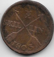 Suède - 1/2 Skilling 1803 - Sweden