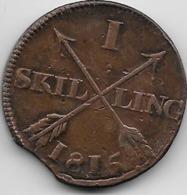 Suède - 1 Skilling 1815 - Sweden