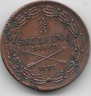 Suède - 2/3 Skilling 1852 - Sweden