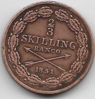 Suède - 2/3 Skilling 1851 - Sweden
