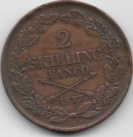 Suède - 2 Skilling 1837 - Sweden