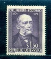 1954 Baron Carl Von Rokitansky,Pathologist,Austria,Österreich,997,CV€18/$25,MNH - Geneeskunde
