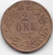 Suède - 2 Ore 1858 - Sweden