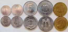 """Algeria 1964-1987 Set 5 Coins """"1+2+5+10+20 Centimes"""" UNC - Algeria"""