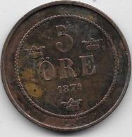 Suède - 5 Ore 1874 - Sweden