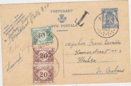 Briefkaart Met Takszegels Van Putte Naar Werchter - Cartas