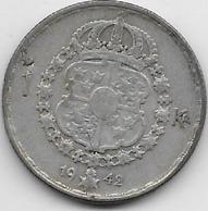 Suède - Krona 1942 - Argent - Sweden