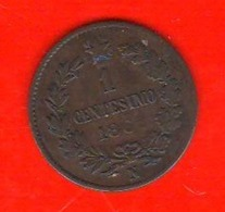 1 Centesimo 1862 N Vittorio Emanuele II° Regno Italia - 1861-1878 : Victor Emmanuel II.