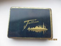 USSR RUSSIA ESTONIA TALLINN  , EMPTY TOBACCO TIN, 0 - Boites à Tabac Vides