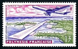POLYNESIE 1960 - Yv. PA 5 * TB  Cote= 4,00 EUR - Aéroport Faaa De Papeete  ..Réf.POL24349 - Poste Aérienne
