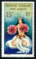 POLYNESIE 1964 - Yv. PA 7 **   Cote= 5,60 EUR - Danseuse Tahitienne  ..Réf.POL24351 - Poste Aérienne