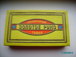 USSR RUSSIA PIPE SMOKING TOBACCO BOX ZOLOTOYE RUNO , 0 - Contenitori Di Tabacco (vuoti)