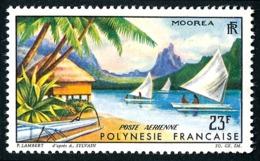 POLYNESIE 1964 - Yv. PA 9 *   Cote= 13,00 EUR - Paysage De Moorea  ..Réf.POL24354 - Poste Aérienne