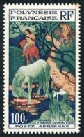 POLYNESIE 1958 - Yv. PA 3 *   Cote= 19,00 EUR - Tableau Le Cheval Blanc, Par Gauguin  ..Réf.POL24614 - Poste Aérienne