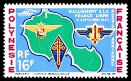 POLYNESIE 1964 - Yv. PA 8 ** SUP  Cote= 18,70 EUR - Ralliement à La France Libre  ..Réf.POL24352 - Poste Aérienne