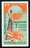 POLYNESIE 1966 - Yv. PA 16 ** SUP  Cote= 23,50 EUR - Cinquantenaire 1ère Liaison Radio  ..Réf.POL24359 - Poste Aérienne