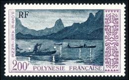 POLYNESIE 1958 - Yv. PA 4 *   Cote= 43,00 EUR - Pêche De Nuit Au Large De Moorea  ..Réf.POL24615 - Poste Aérienne