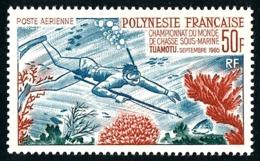 POLYNESIE 1965 - Yv. PA 14 * TB  Cote= 106,00 EUR - Championnat Du Monde De Chasse Sous-marine, Tuamotu  ..Réf.POL24357 - Poste Aérienne