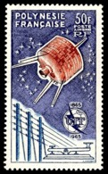 POLYNESIE 1965 - Yv. PA 10 ** TB  Cote= 120,00 EUR - UIT. Satellite De Télécommunication  ..Réf.POL24355 - Poste Aérienne