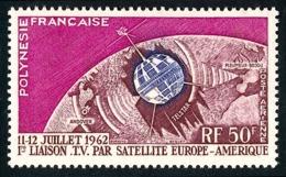 POLYNESIE 1962 - Yv. PA 6 * TB  Cote= 14,00 EUR - Télécom Spatiales : 1ère Liaison TV  ..Réf.POL24350 - Poste Aérienne