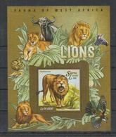 P938. Sierra Leone - MNH - 2015 - Fauna - Wild Animals - Lions - Africa - Bl - Plants