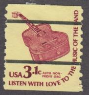 USA 1979. Scott 1613a. 3.1c Bureau Precancel, Six-String Guitar. Perf. 10 Vert. MNH - Neufs
