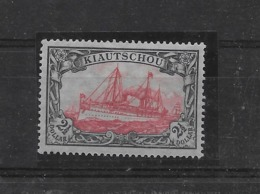 Sello De Kiautschou Nº Michel 37B-II * Valor Catálogo 35.00€ - Colonia: Kiautchou