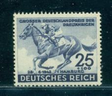 1942 Horse Race Hamburg,Derby,Blue Riband,German Empire/Reich,814,CV€22/$30,MNH - Farm