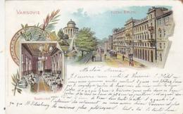 Varsovie - Hotel Brühl - Litho        (A-117-190222) - Polonia