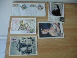 Monaco Lot 45 Documents  Lettre , Fdc Carte Maximum Tout En Photo - Monaco