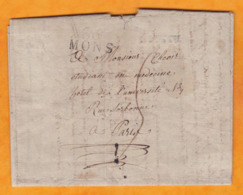 1840 - Lettre Avec Corresp Amicale En Français De BOUSSU, Belgique Vers Paris, France Via Mons - Cad Arrivée - 1794-1814 (French Period)