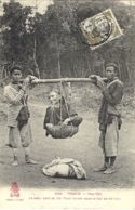 3345 -TONKIN-Yen-Thé - Le Beau Père De Tham Arrêté Dans Le Train De Ké-Voi - Ed. P. Dieulefils - Viêt-Nam