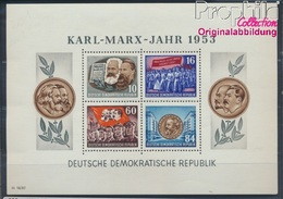 DDR Block9A Postfrisch 1953 Karl-Marx-Jahr (8532415 - [6] Oost-Duitsland