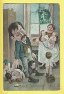 * Fantaisie - Fantasy (Bébés Multiples - Baby) * (série 857 K.F.) Enfant, Pot De Chambre, Papa, Dad, Father, Pain, Bread - Bebes