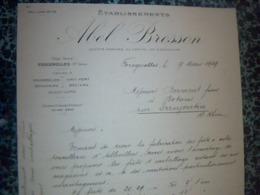 Facture  Lettre A Entéte Année 1929 ABEL BRESSON Fabrication De Fûts D Emballage Tonnellerie à Fougerolles Hte Saône - Frankreich