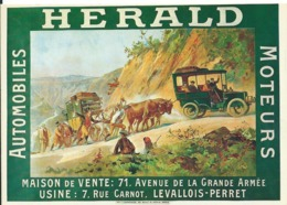 CARTE PUBLICITAIRE    ... HERALD AUTOMOBILES / MOTEURS - Werbepostkarten