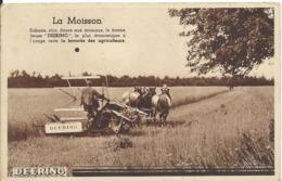 CARTE PUBLICITAIRE    ... DEERING ...LA MOISSON - Werbepostkarten