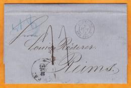 1873 - Lettre Avec Corresp En Allemand De RIGA (occupation Russe) Vers Reims, France Via Russie Et Allemagne - Lettland