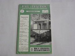 RAIL ET TRACTION N° 57 Revue Chemins De Fer SNCB Tram SNCV Vicinal Bruxelles Tervueren Autorails Belges Bois D'Avroy - Ferrocarril & Tranvías