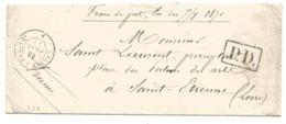 R32 - Prisonnier Guerre ALLEMAGNE Vers SAINT ETIENNE - Ambulant CALAIS à PARIS - Janvier 1871 - - Storia Postale