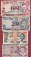 Tanzanie 4 Billets Dans L 'état - Tanzania