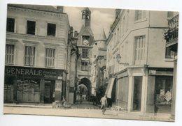 37 AMBOISE Banque SOCIETE GENERALE  Entrée Rue Nationale Le Beffroi  1910     D17 2019 - Amboise