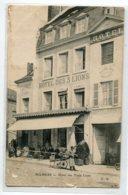 72 MAMERS Carte RARE Hotel Des Trois Lyon Livreur Cariole à Bras Clients Terrasse  Edit F. M      D17 2019 - Mamers