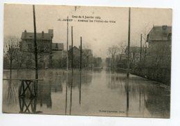 91 JUVISY Sur ORGE Crue 6 Janv 1924 Avenue De L'Hotel De Ville  Inondée  Edit Leprunier No 15 D17 2019 - Juvisy-sur-Orge