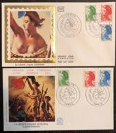 France - FDC - Premier Jour - Lot De 2 FDC - Thématique Marianne - 1984 - FDC