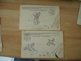 Serie 6 Dessin Poilu Guerre 14.18  Le Vaguemestre Aventure Carte Franchise  Ref 1 Voir Description - Guerre 1914-18
