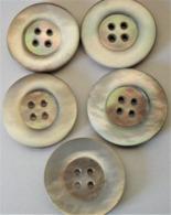 BOUTONS NACRE NATURELLE 2,5 Cm De Diamètre - Boutons